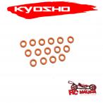 Junta tórica de silicona (P6 / naranja) 15 piezas ORG06