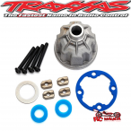 Carrier, differential (aluminum)/ x-ring gaskets (2)/ ring gear gasket/ spacers