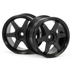 TE37 Wheel 26mm Black 0mm Offset
