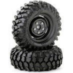 Tire set Crawler 96mm black scale rim